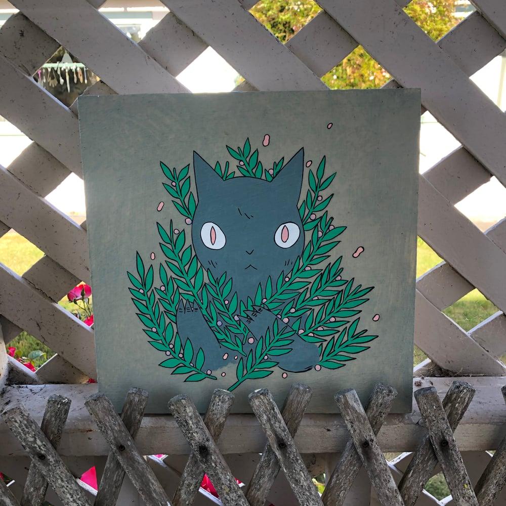 Image of Bush Cat Painting