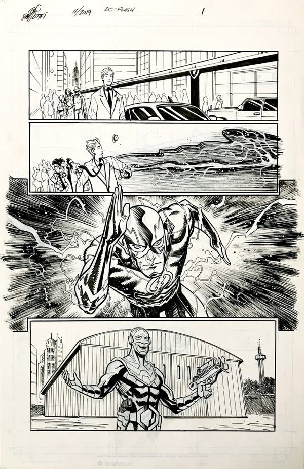 Image of DC FLASH: FASTEST MAN ALIVE ISSUE #9 PAGE 1 of 8