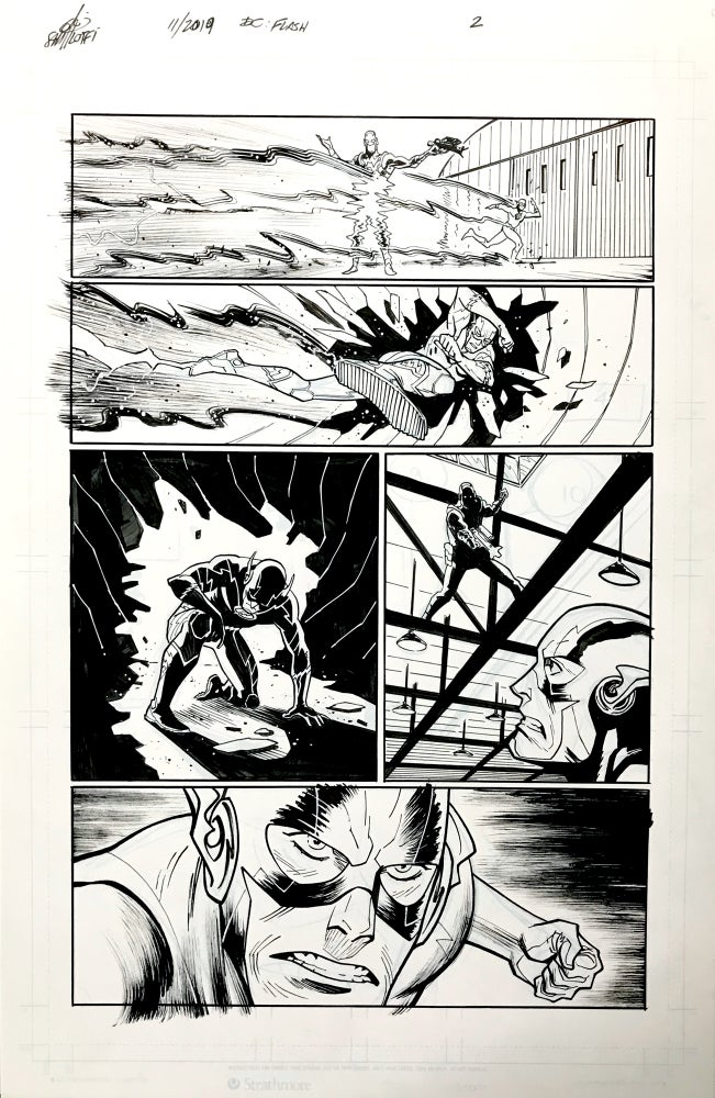 Image of DC FLASH: FASTEST MAN ALIVE ISSUE #9 PAGE 2 of 8