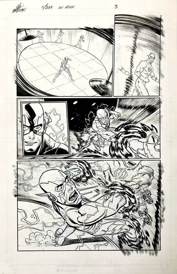 Image of DC FLASH: FASTEST MAN ALIVE ISSUE #9 PAGE 3 of 8