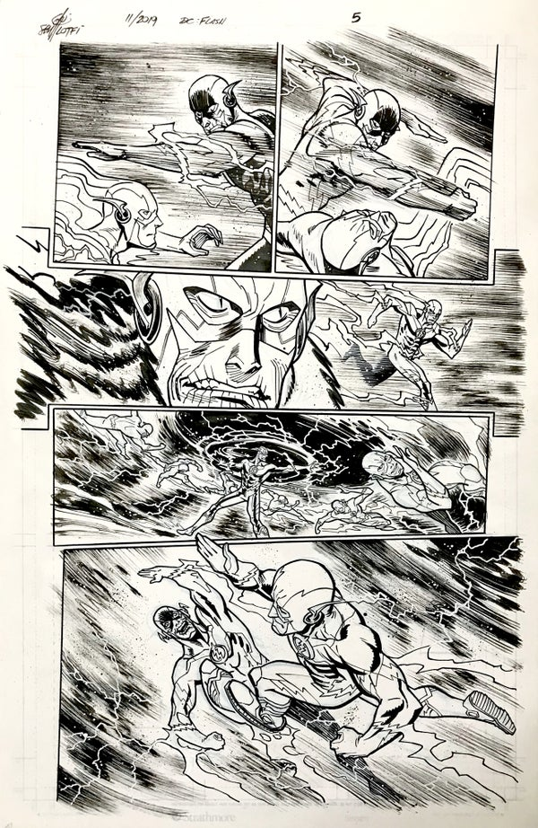 Image of DC FLASH: FASTEST MAN ALIVE ISSUE #9 PAGE 5 of 8