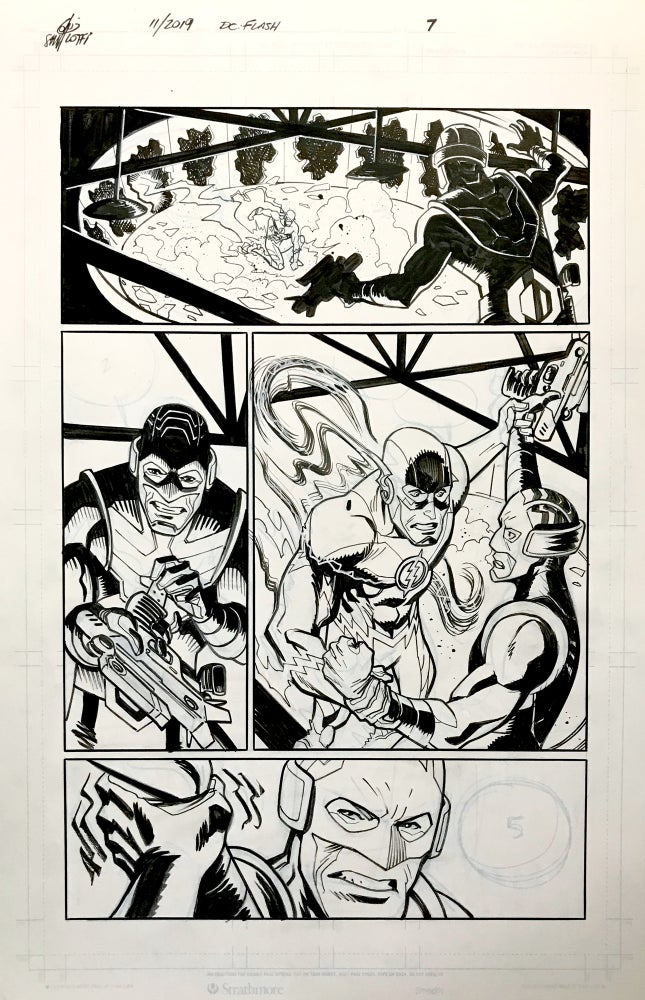 Image of DC FLASH: FASTEST MAN ALIVE ISSUE #9 PAGE 7 of 8
