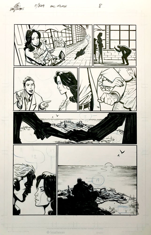 Image of DC FLASH: FASTEST MAN ALIVE ISSUE #9 PAGE 8 of 8
