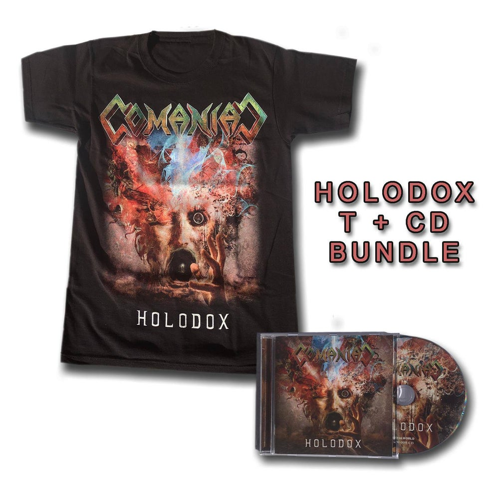 Image of COMANIAC - Holodox CD bundle with shirt (only pre-sale til 28/08/2020)