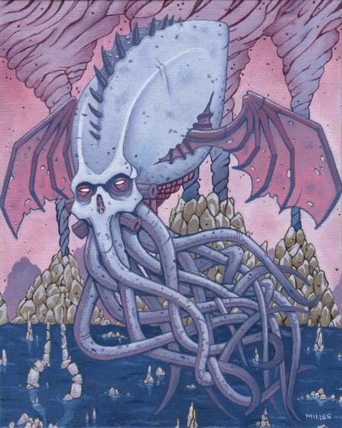 Image of Ascension of God - Framed Original Oil