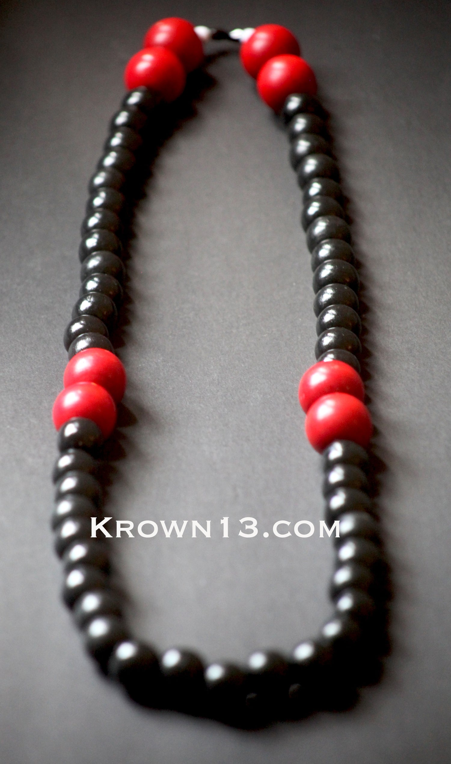 Baba's Black and Red Wood Beads