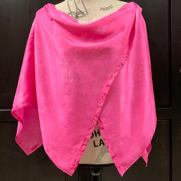 Image of Pink Silk Poncho