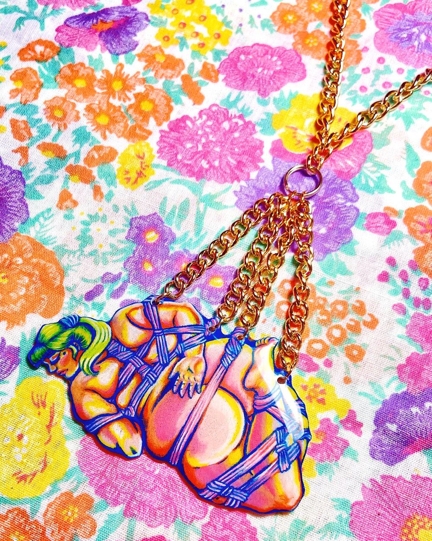 Image of Bondage Bitch Chain Necklace