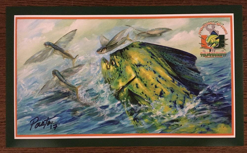Image of 2017 UMSHoF UFish Fishing Tournament Poster signed by the artist Pasta