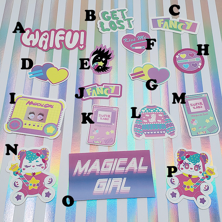 Image of VINYL Fancy Stickers | Original Characters and Design Starlight Deco Dream