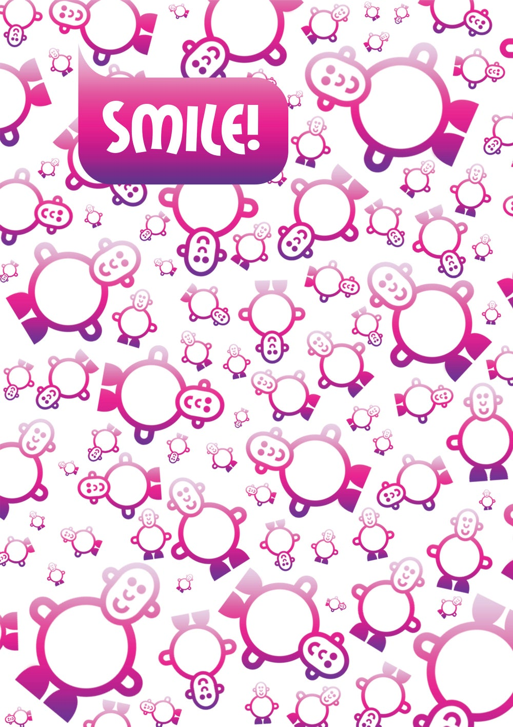 Mr Smileyman Pink Pattern Smile