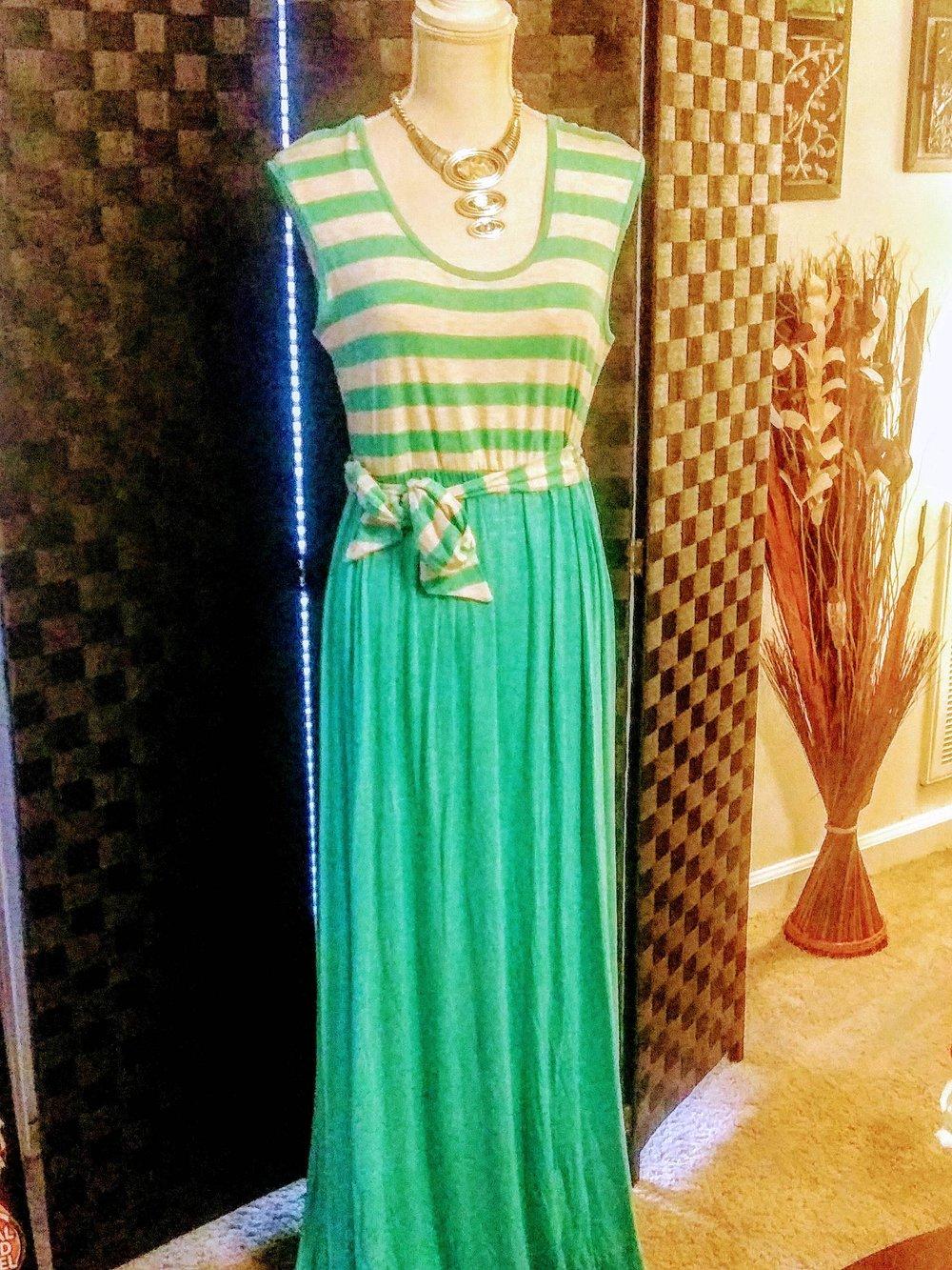 Image of Mint & White Maxi Dress