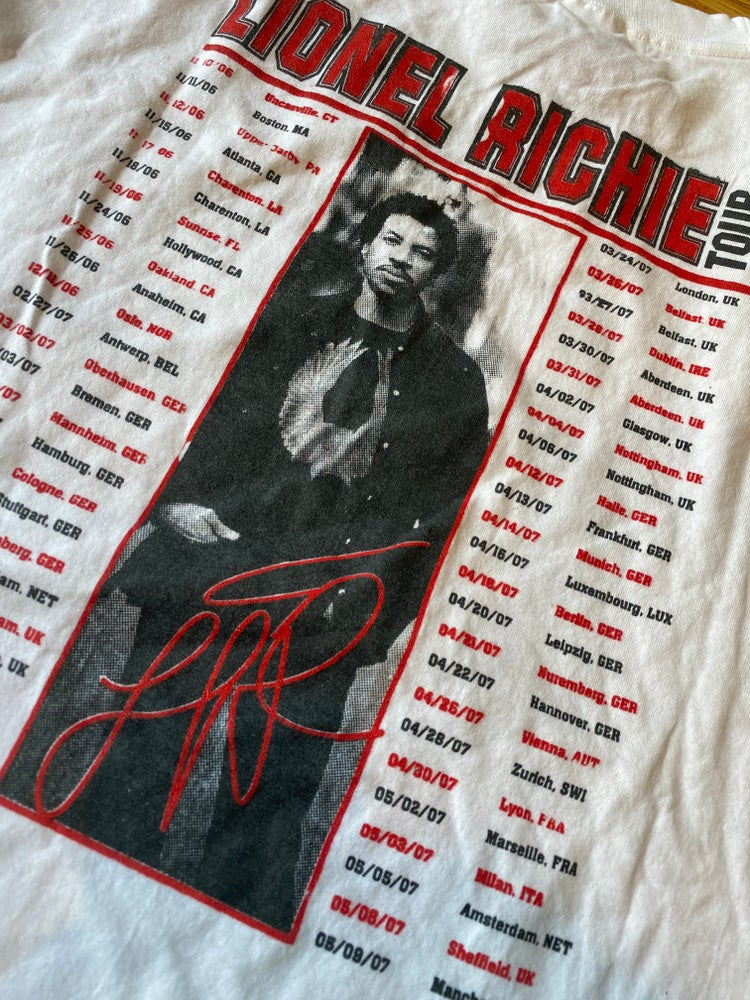 Image of 2006 Lionel Richie Tour Tee