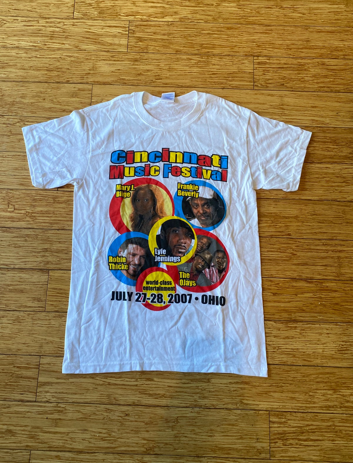 Image of 2007 Cincinnati Music Festival Tee