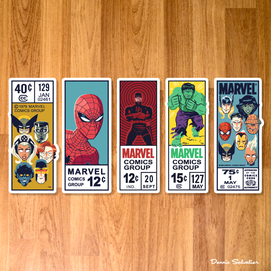 Image of Marvel Corner Box Sticker Set