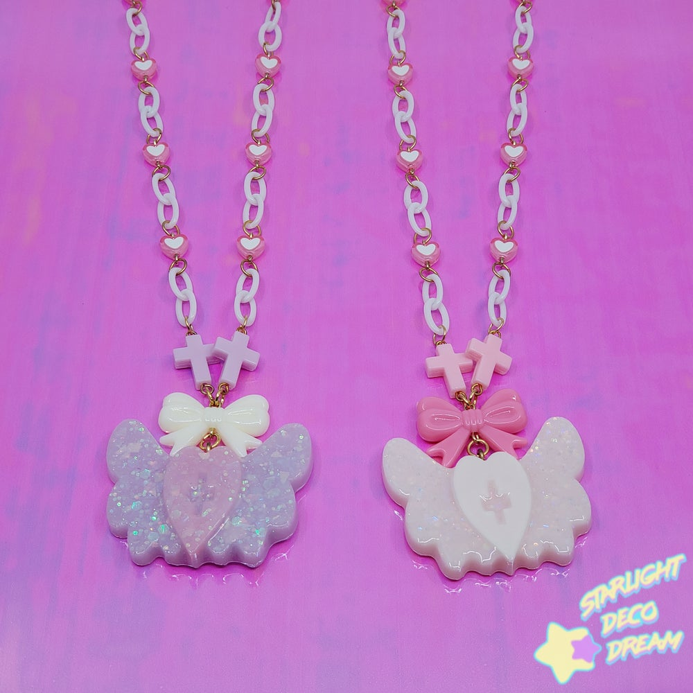 Image of Holy Healing Necklace / Pink or Lavender