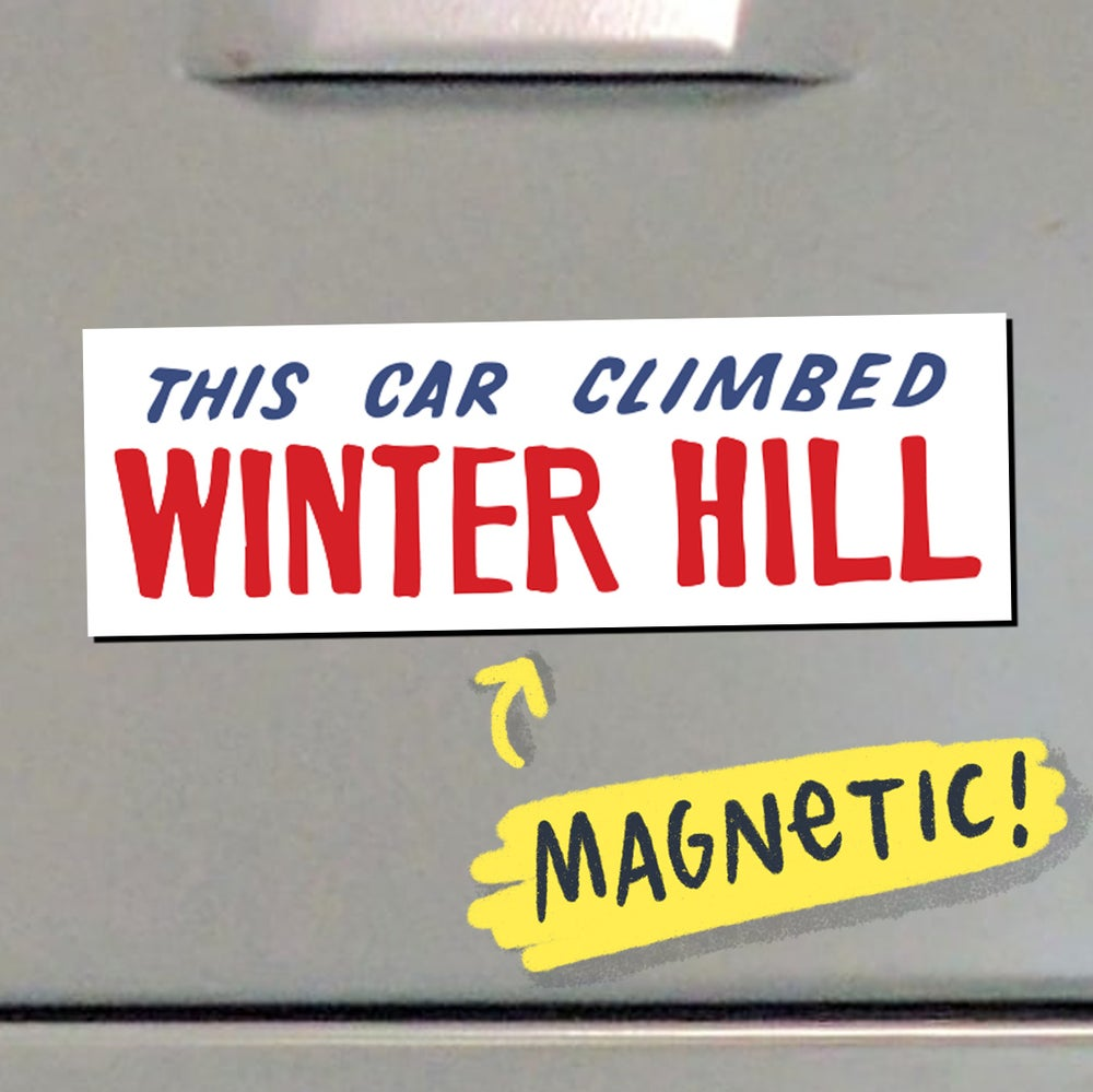 Image of This Car Climbed Winter Hill - MAGNET