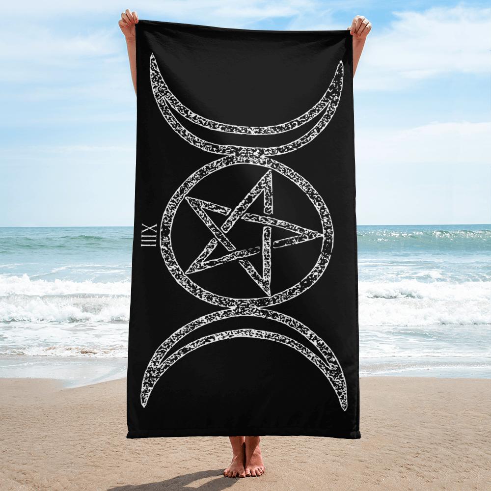 "Image of ""TRIPLE MOON GODDESS"" BEACH TOWEL"