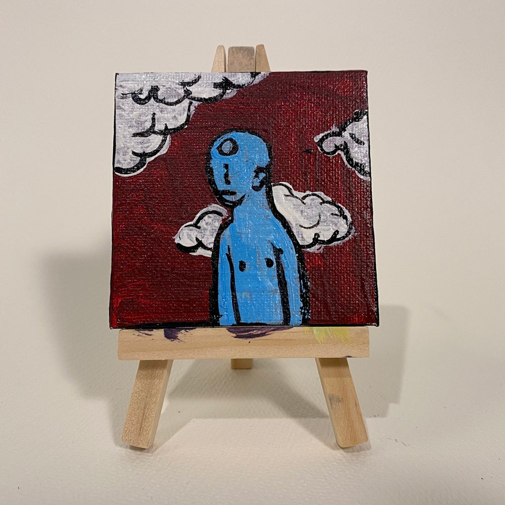 Image of a little cloudy - Acrylic on Canvas Painting 2020