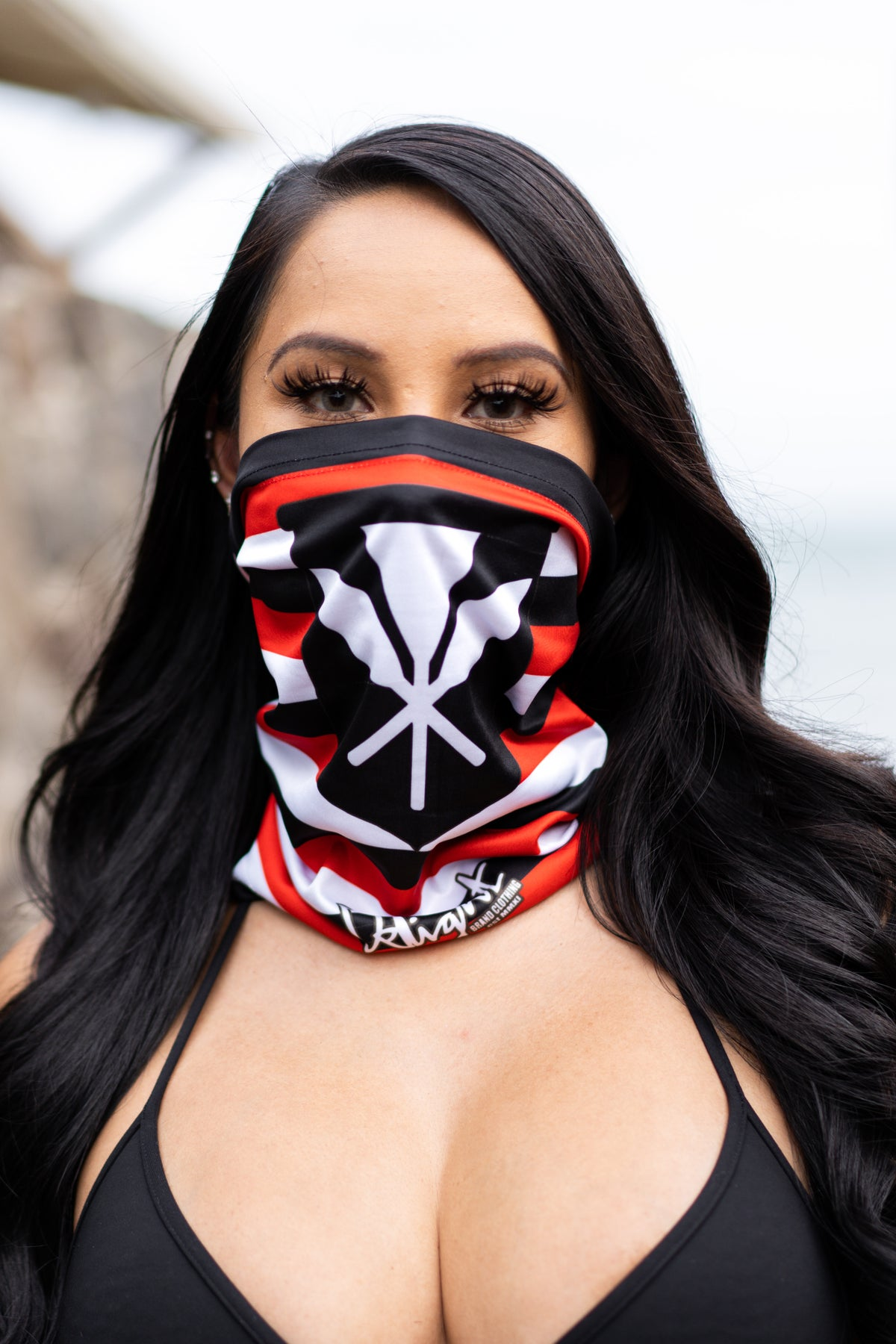*RESTOCKED* Kanaka - Red. Black, White Face Shield