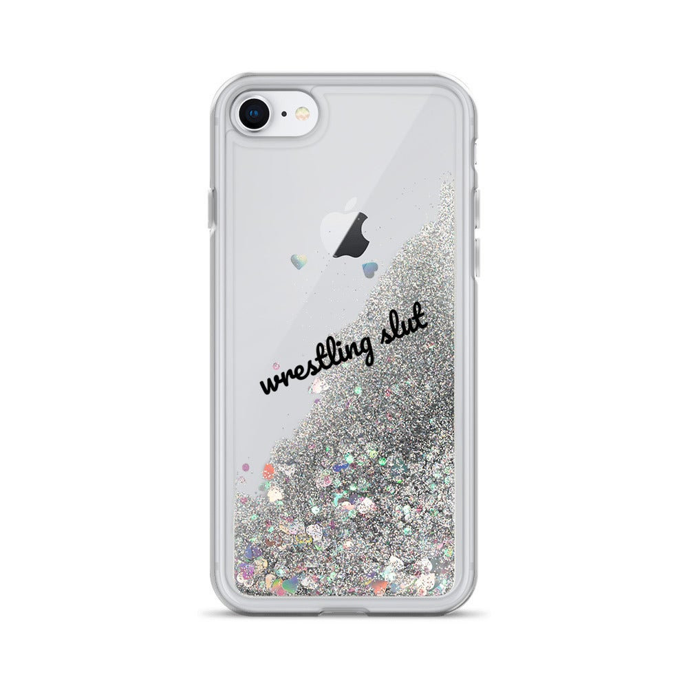 Wrestling Slut iPhone Glitter Case