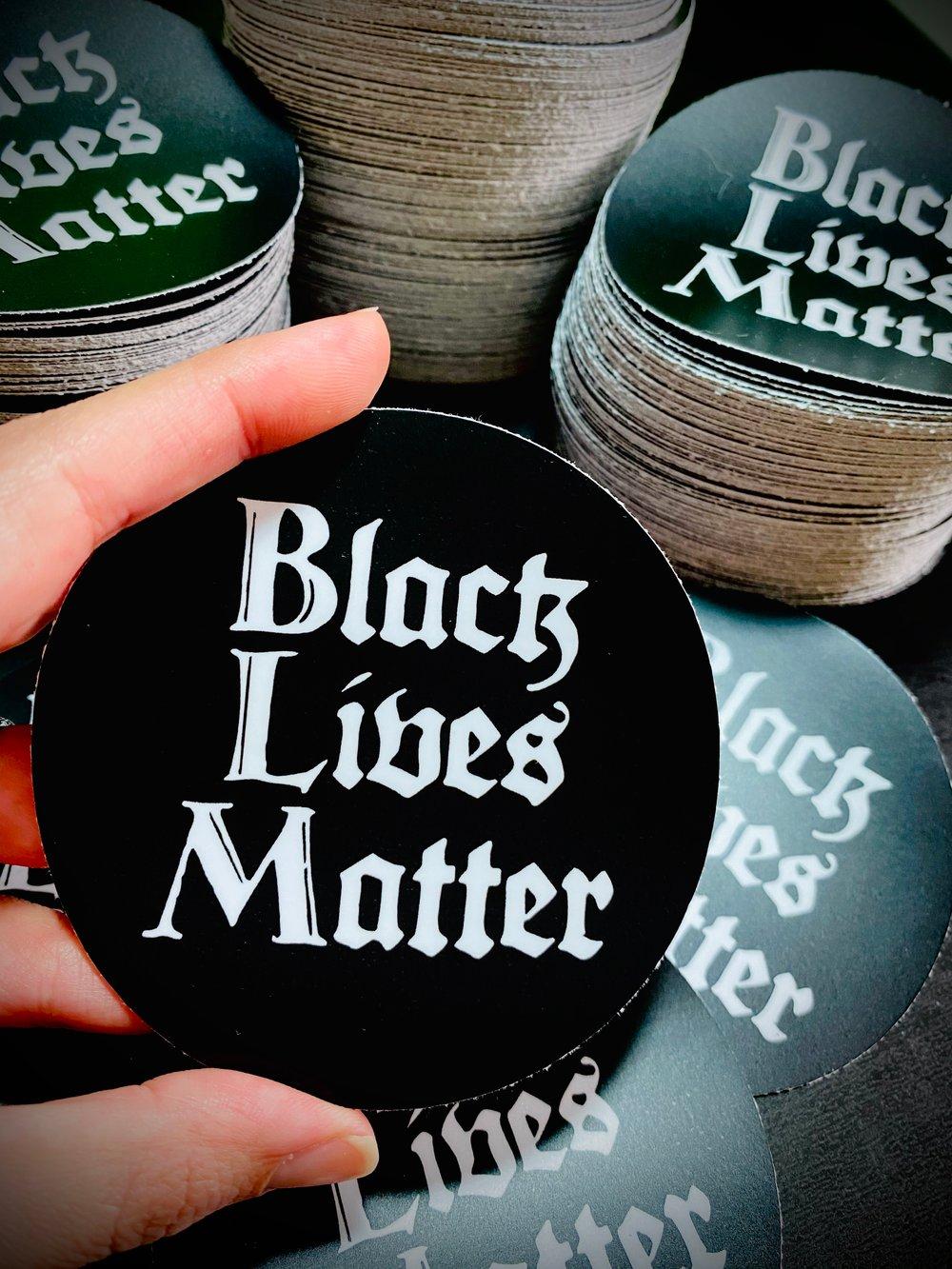 Black Lives Matter Sticker (100% Proceeds Donated)