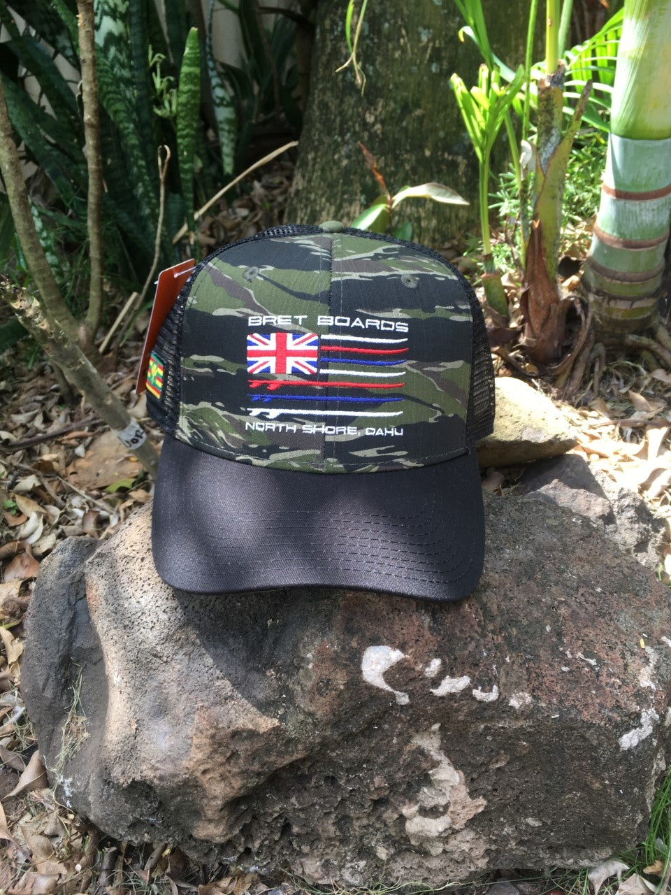 Image of Camo Embroidered Trucker Cap