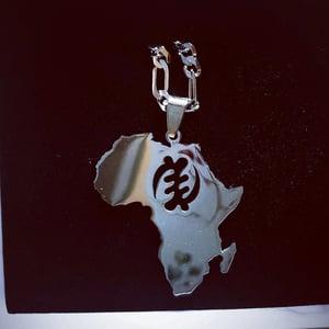 Image of GYE NYAME AFRICA MAP NECKLACE