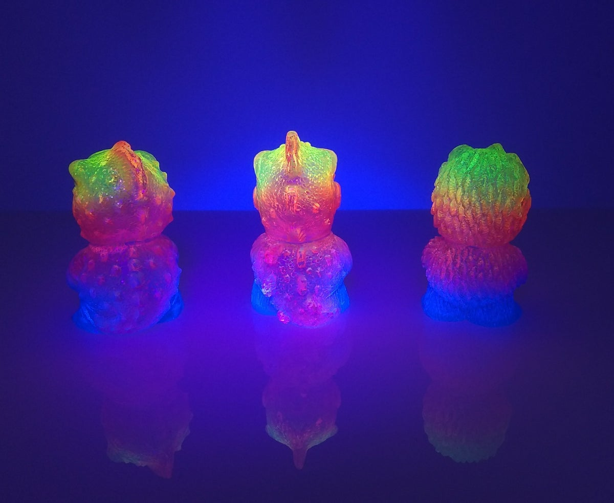 Image of Custom Neon Rainbow Kaiju Minis