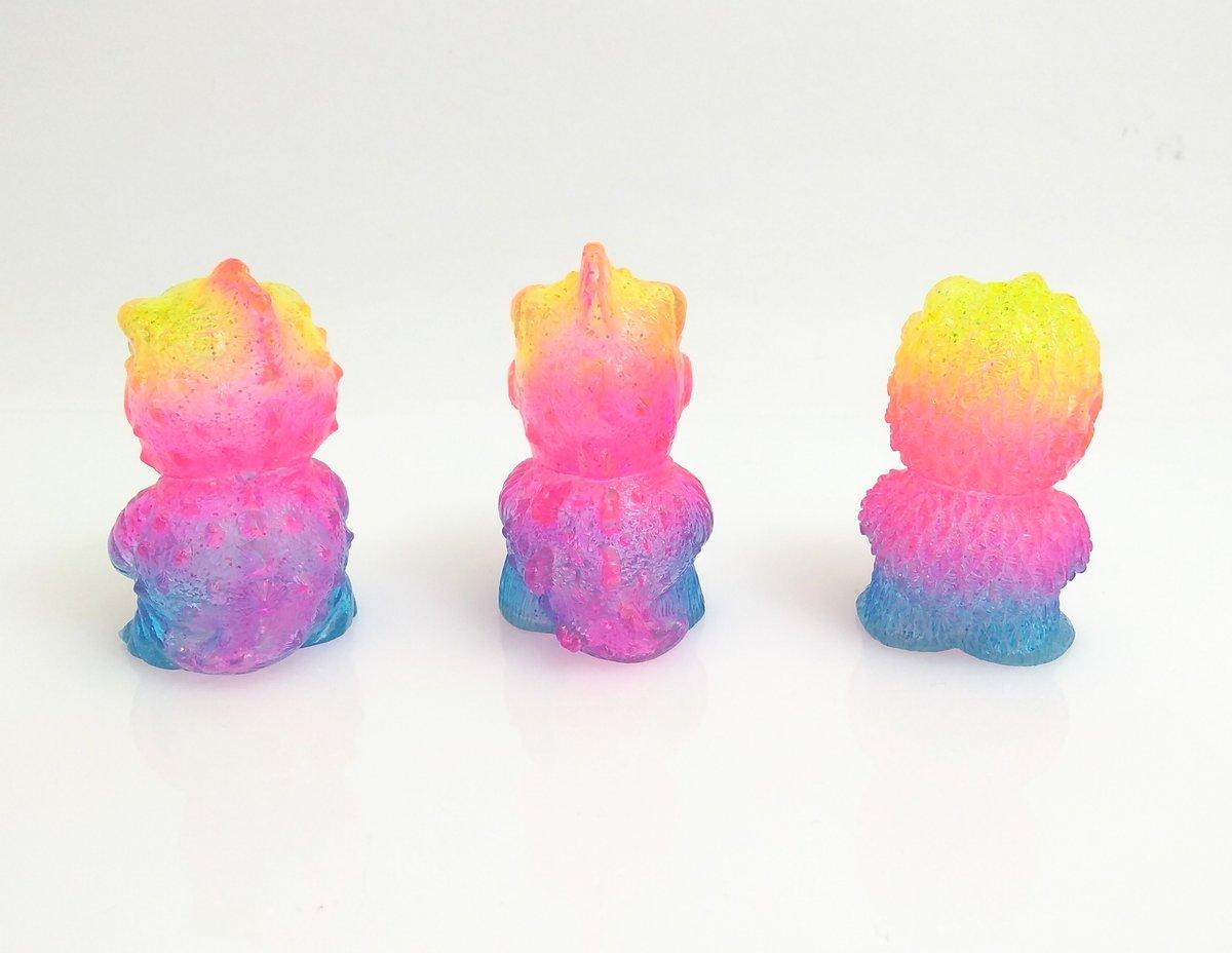 Image of Custom Neon Rainbow Kaiju Minis