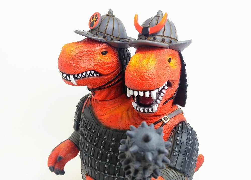 Image of One off custom Lava 2 headed Warrior Dinosaurs