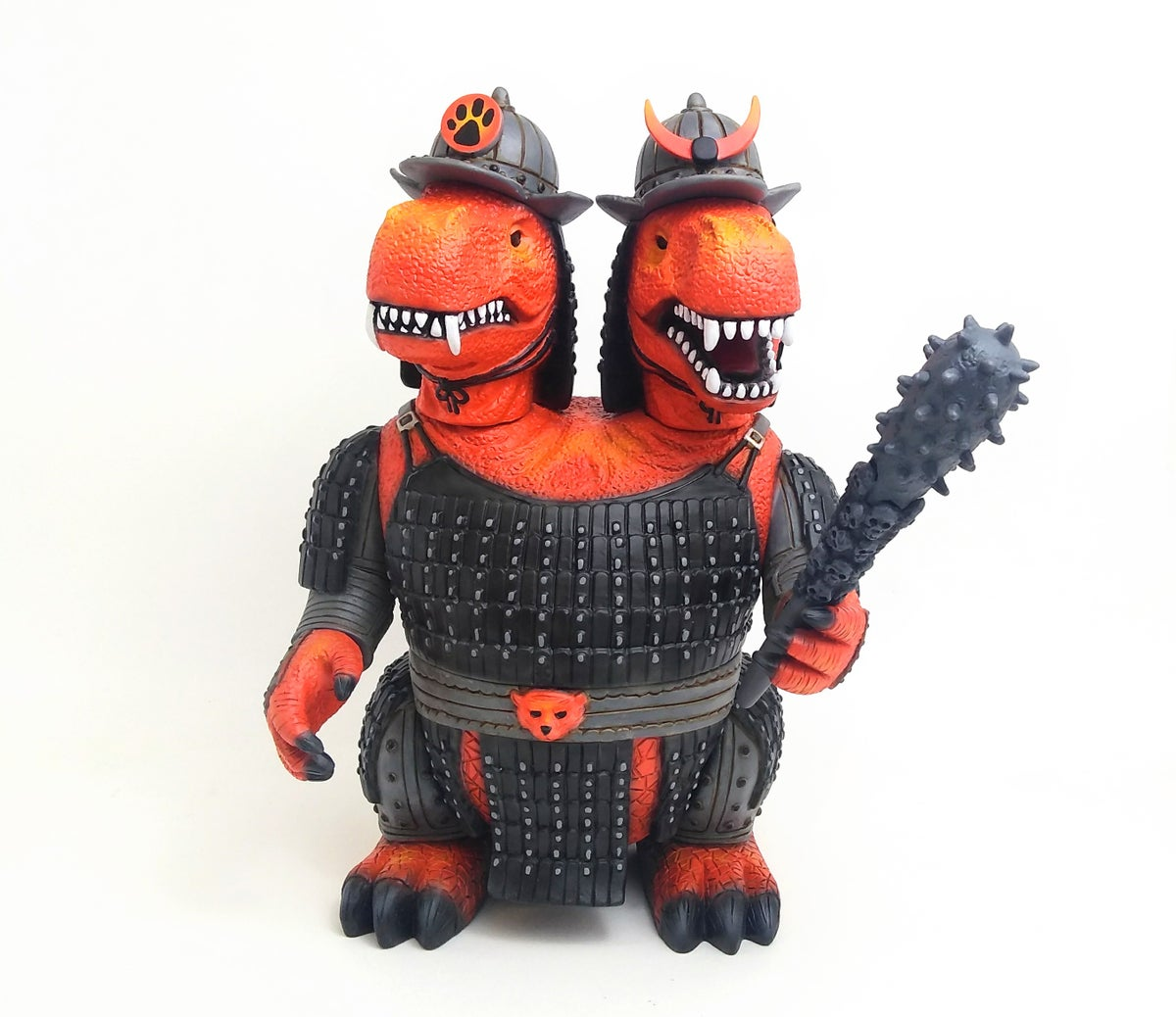 Image of One off custom Lava 2 headed Warrior Dinosaurs