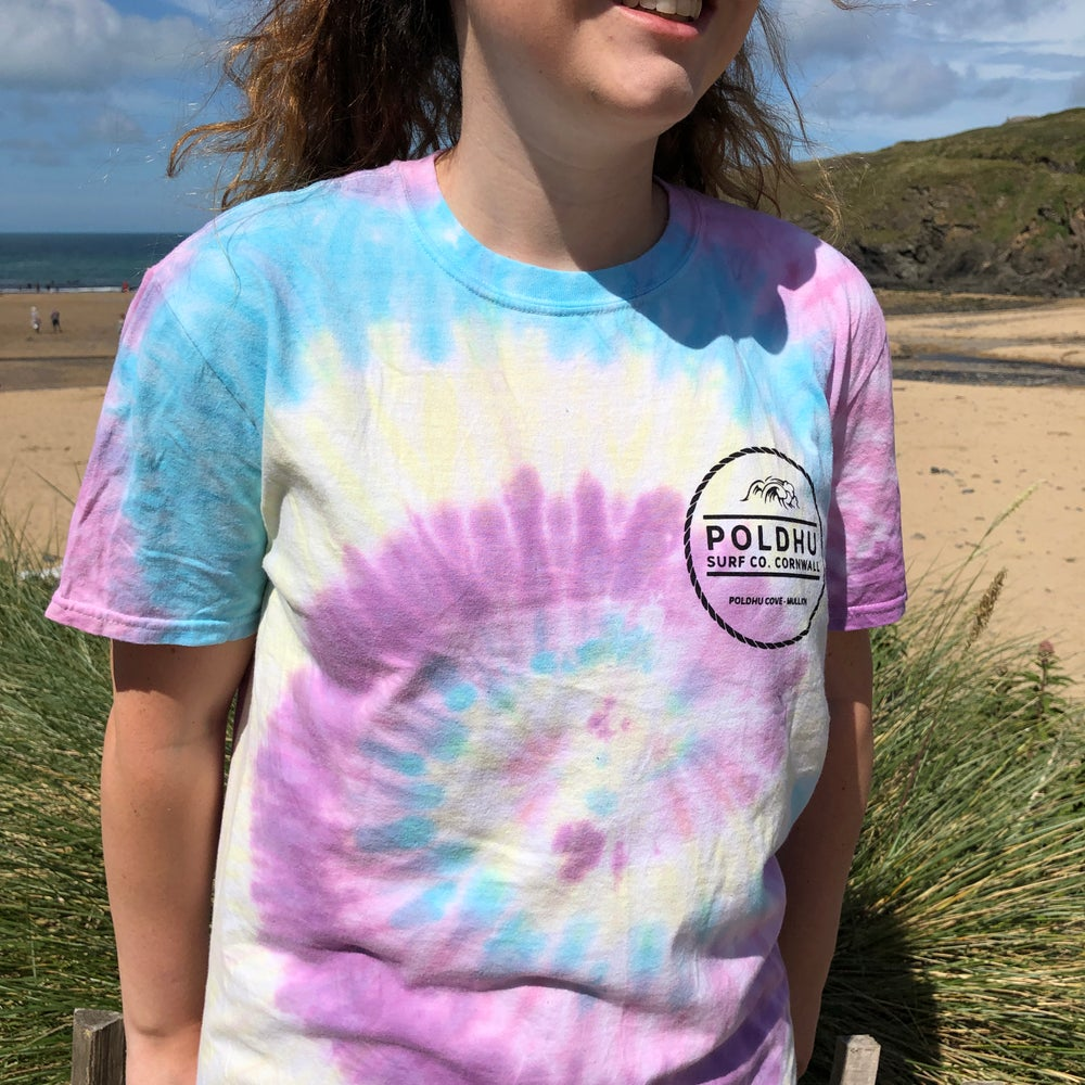 Ladies Tie Dye Tee - Jellybean