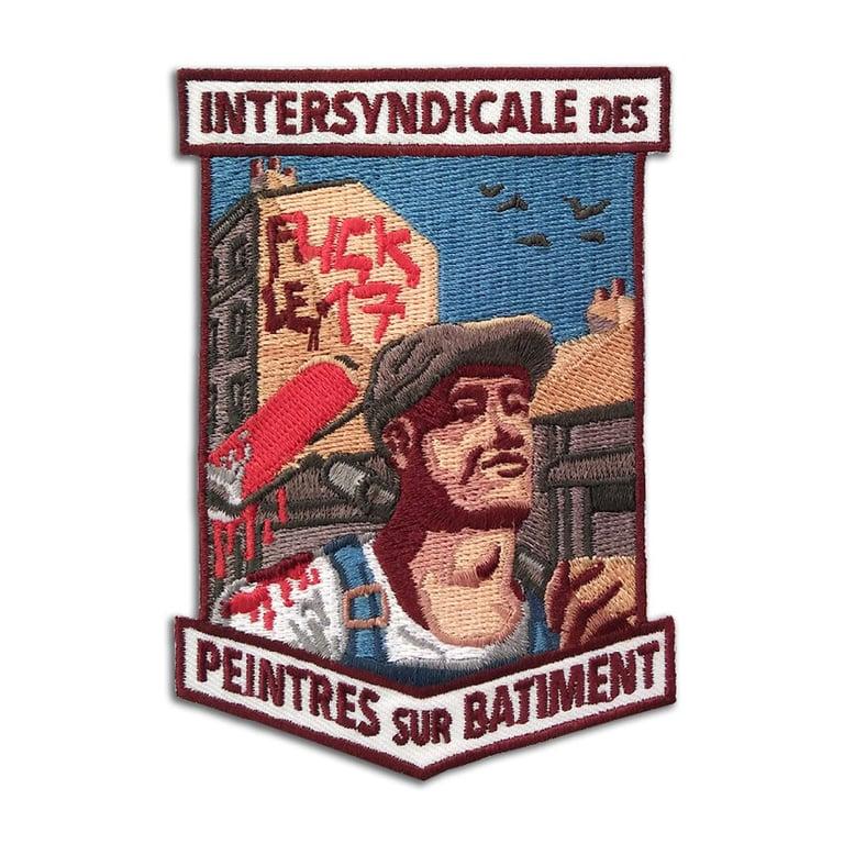 Image of PEINTRE SUR BATIMENT