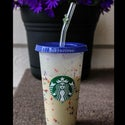 Reuseable Cold Cup Lids for Glass Straws