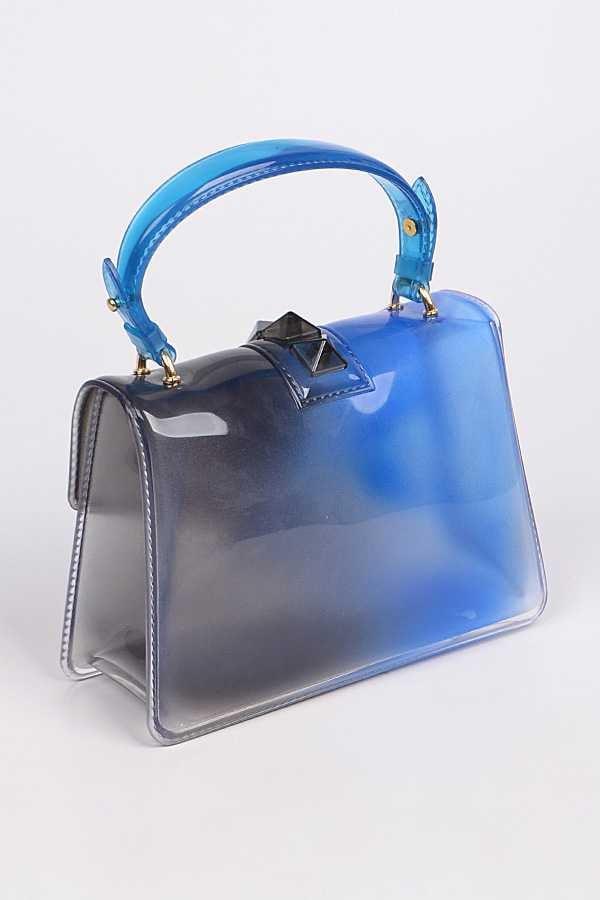 Image of Cobalt Blue Jelly Handbag
