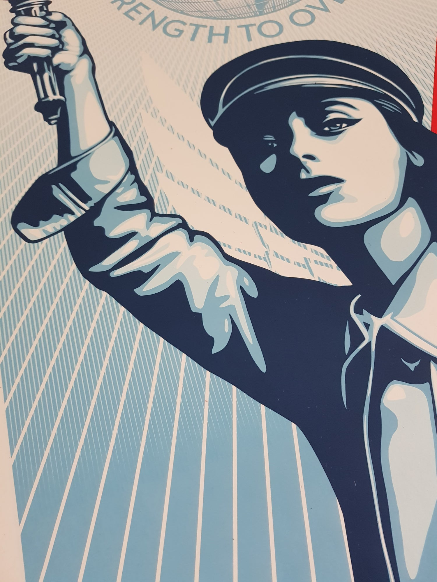 """Image of SHEPARD FAIREY (OBEY) - """"ANGLE OF HOPE AND STRENGTH"""" - SIGNED LTD ED OF 550 - 60CM X 45CM"""