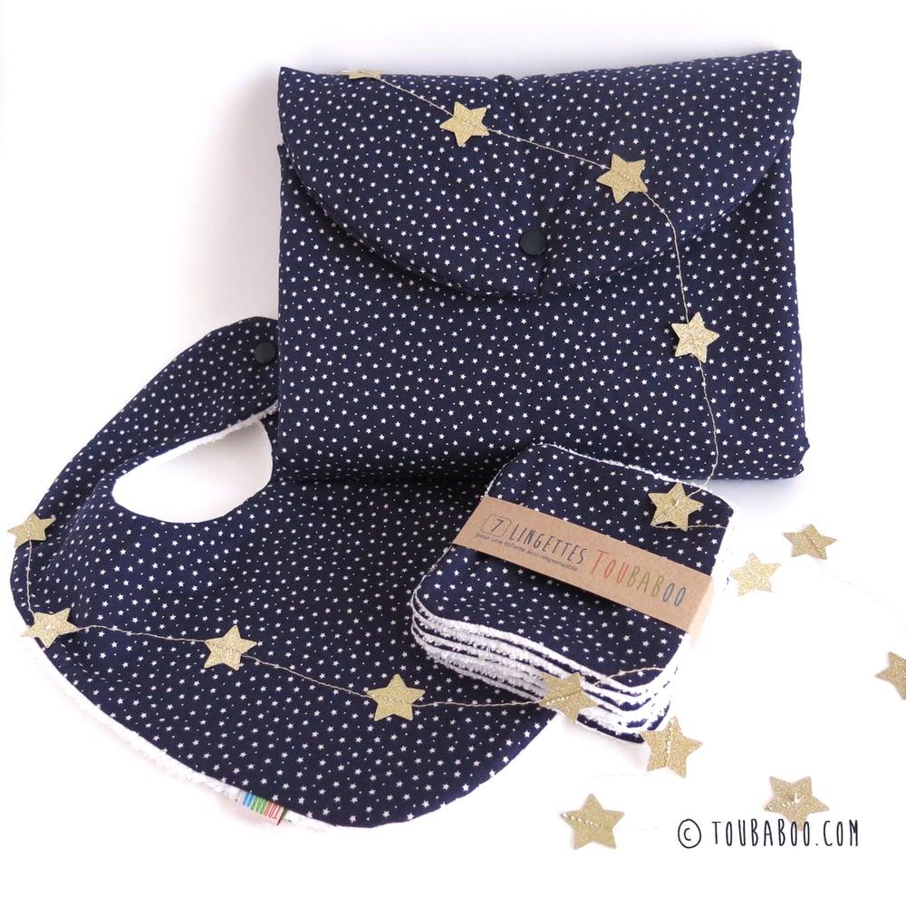 Image of Ensemble petites étoiles sur fond marine (ou séparément)