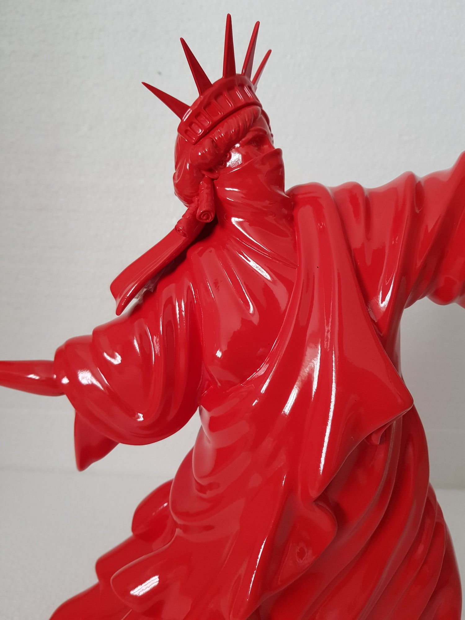 """Image of WHATSHISNAME """"RIOT OF LIBERTY"""" - PORCELAIN SCULPTURE LIMITED RED EDITION OF 25"""