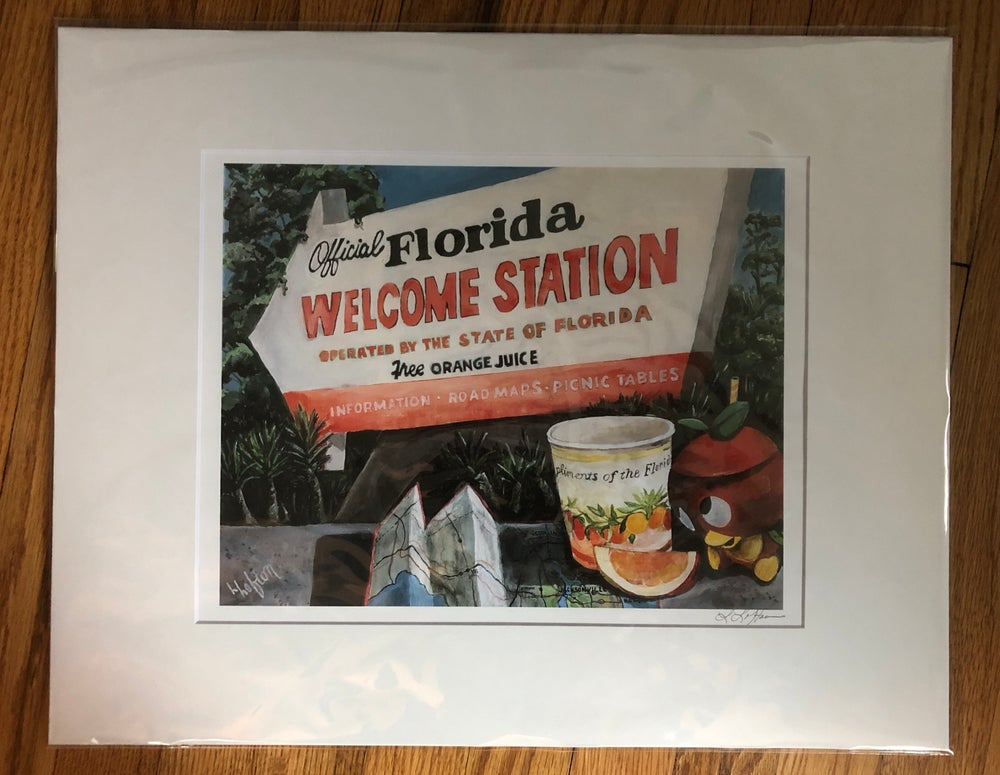 Image of L0057 - South of the Border to Jacksonville, FL - Reprint 11X14