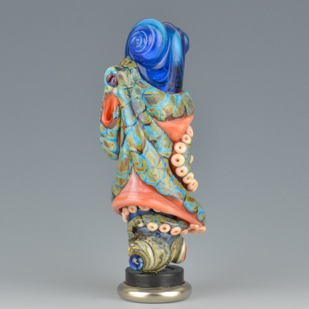 Image of XXXL. Tangled Coral Reticulated Octopus Tower - Flamework Glass Sculpture Bead