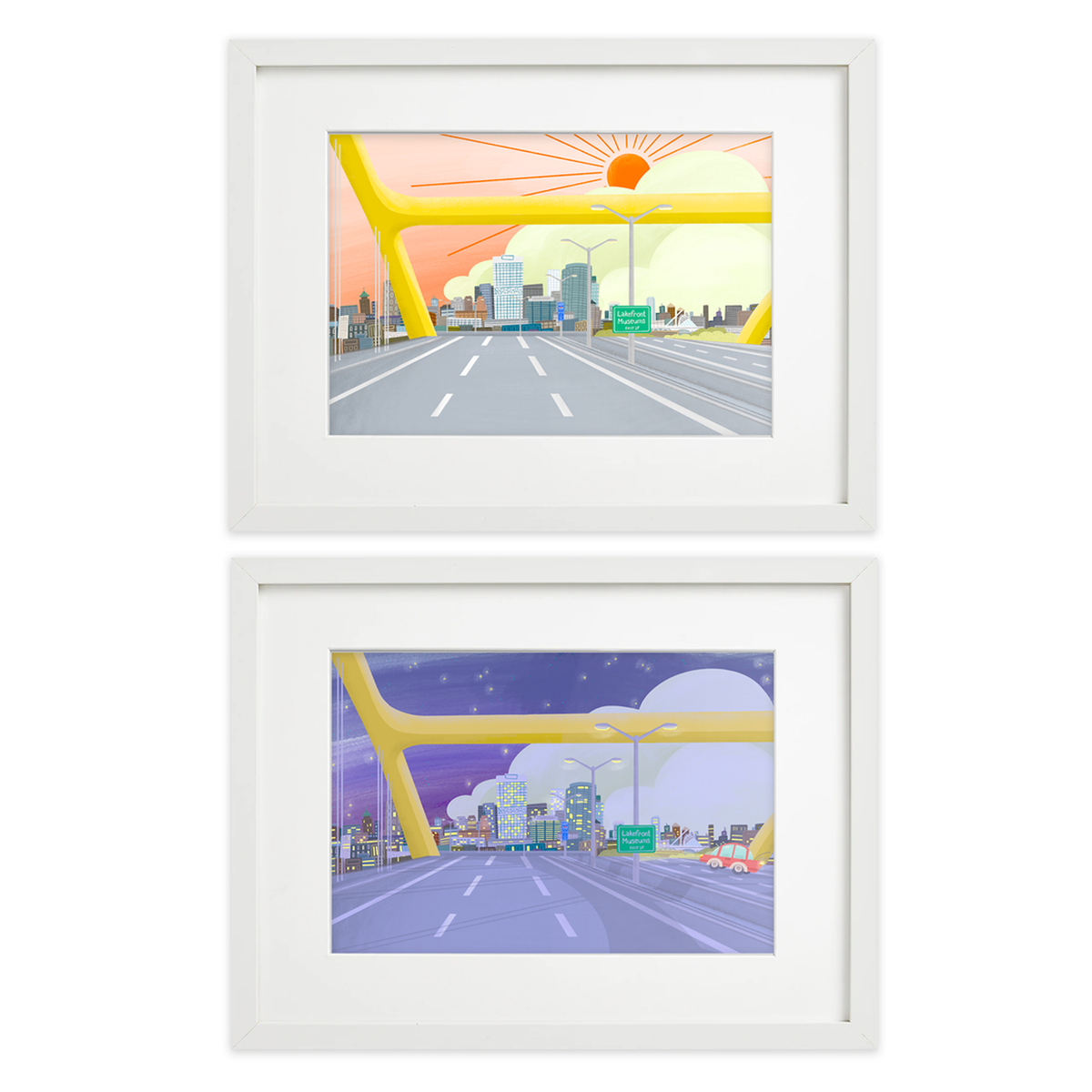 Image of Hoan View Morning & Night Print