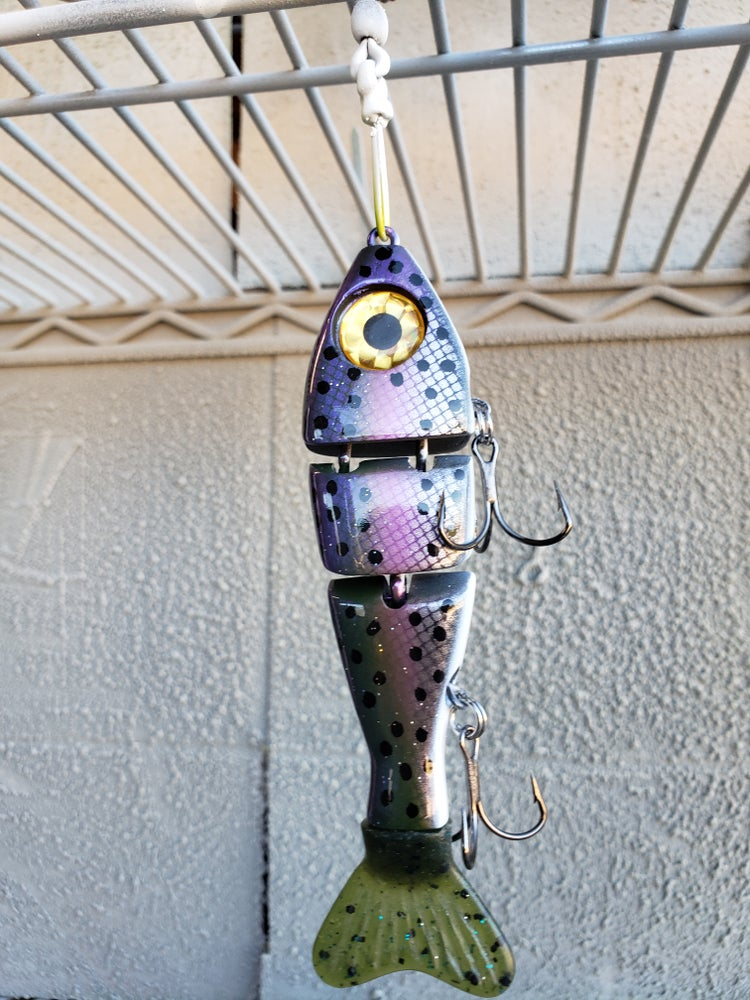 Image of 5 inch Stubby. Scaled Purple Trout.