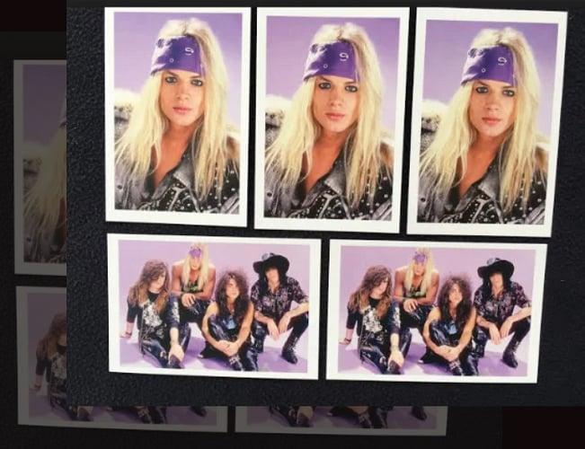 Image of Stevie Rachelle & Tuff Signed Postcard Set (5) Full Color Postcards.