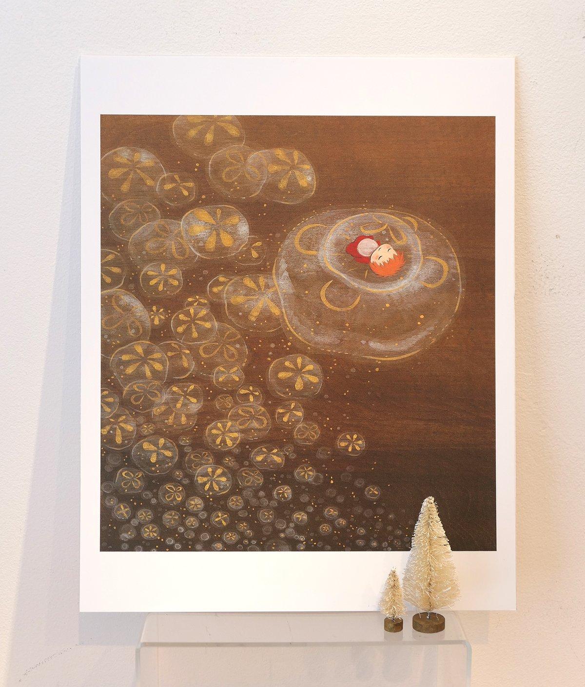 "Ponyo's Golden Flight 11 x 14"" Print"