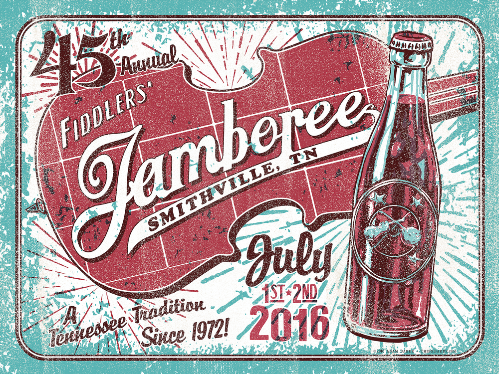 45th Annual Smithville Fiddlers' Jamboree Screenprint Poster