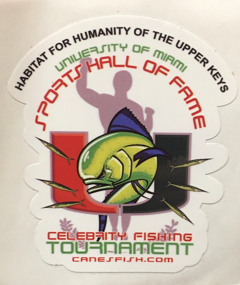 Image of 2017 Habitat for Humanity /UMSHoF Celebrity Fishing Tournament Sticker