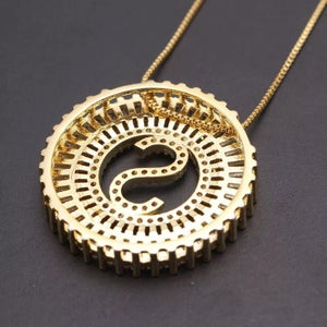 Image of Rise and Shine- Sparkling Initial Necklace
