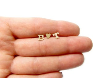 Image of Golden Statement- Gold Initial Earrings