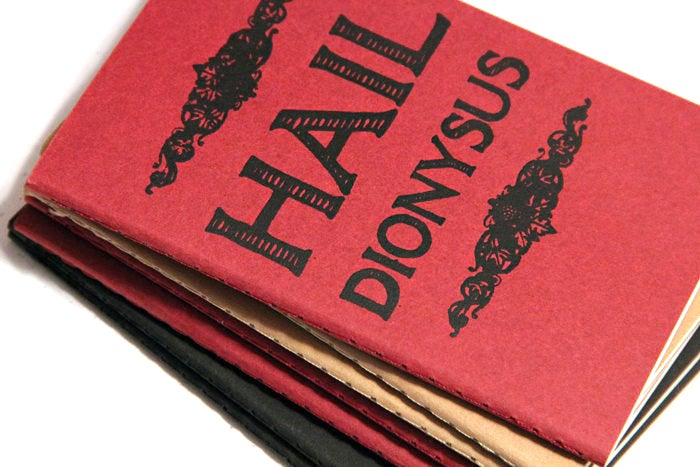 Image of Hail Dionysus Small Journal (Wine Red)